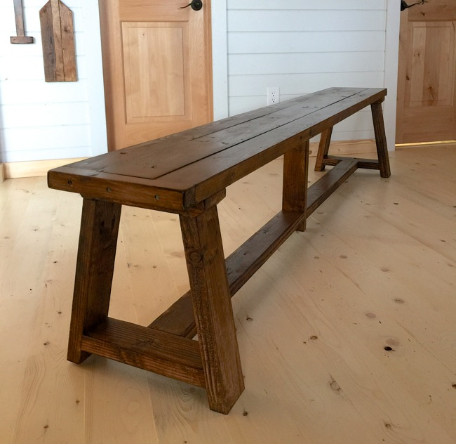 More farmhouse projects you can build with 2x4s the for Farmhouse chair plans