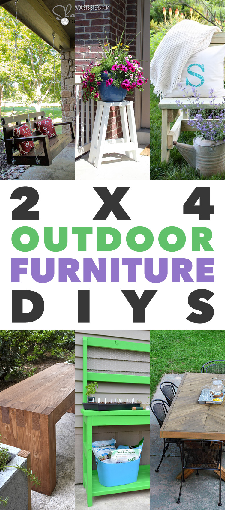 fabulous outdoor furniture you can build with 2x4s the cottage market rh thecottagemarket com 2 X 4 Furniture Plans Outdoor 2X4 Furniture