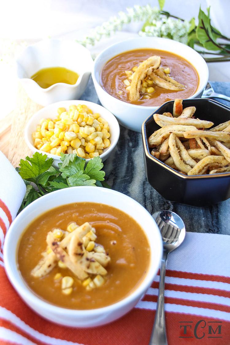 Butternut Squash, Sweet Potato & Pan Roasted Sweet Corn Soup - The ...