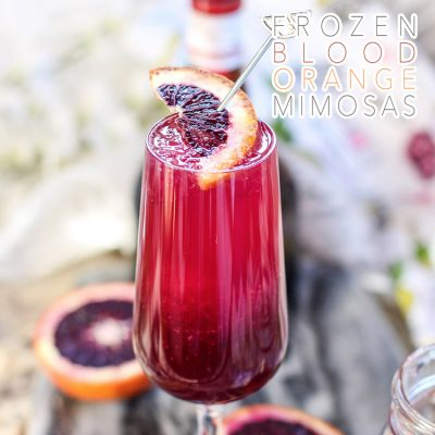 Frozen Blood Orange Mimosa