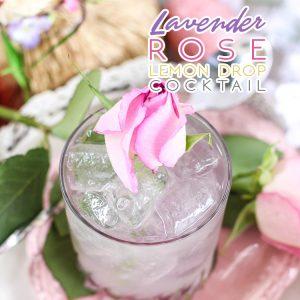 Lavender Rose Lemon Drop Cocktail