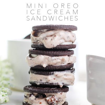 Mini Oreo Ice Cream Sandwiches