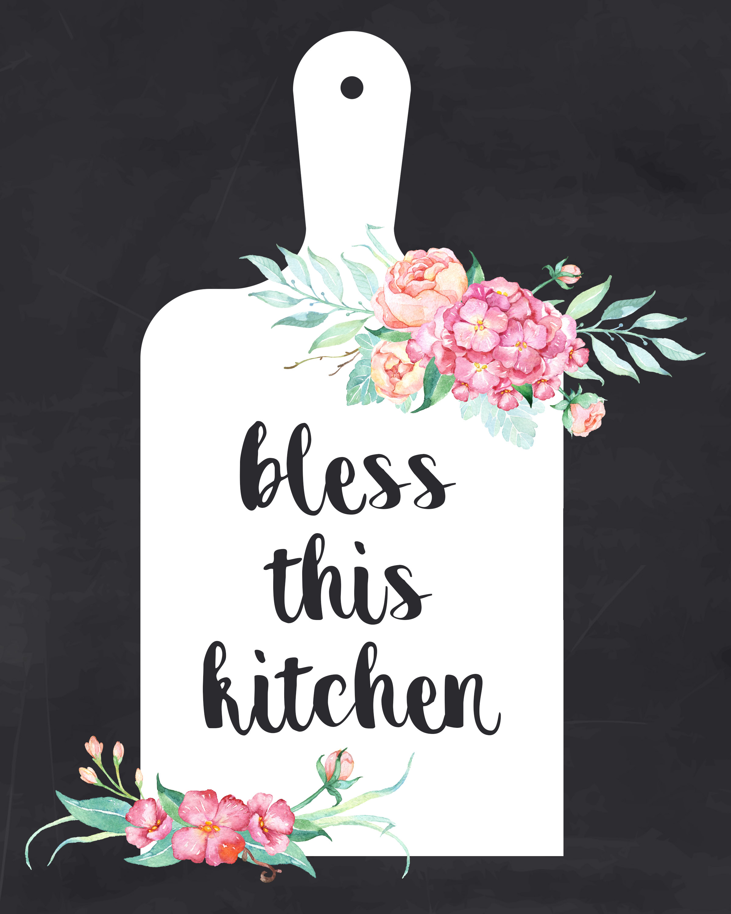 graphic about Free Kitchen Printable named Free of charge Printable Farmhouse Kitchen area Wall Artwork Choice - The