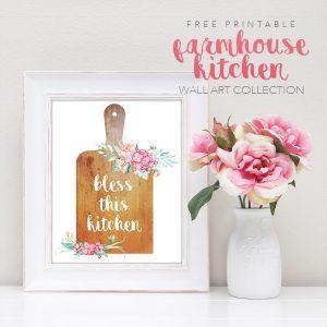 Free Printable Farmhouse Kitchen Wall Art Collection