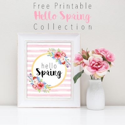 Free Printable Hello Spring Collection