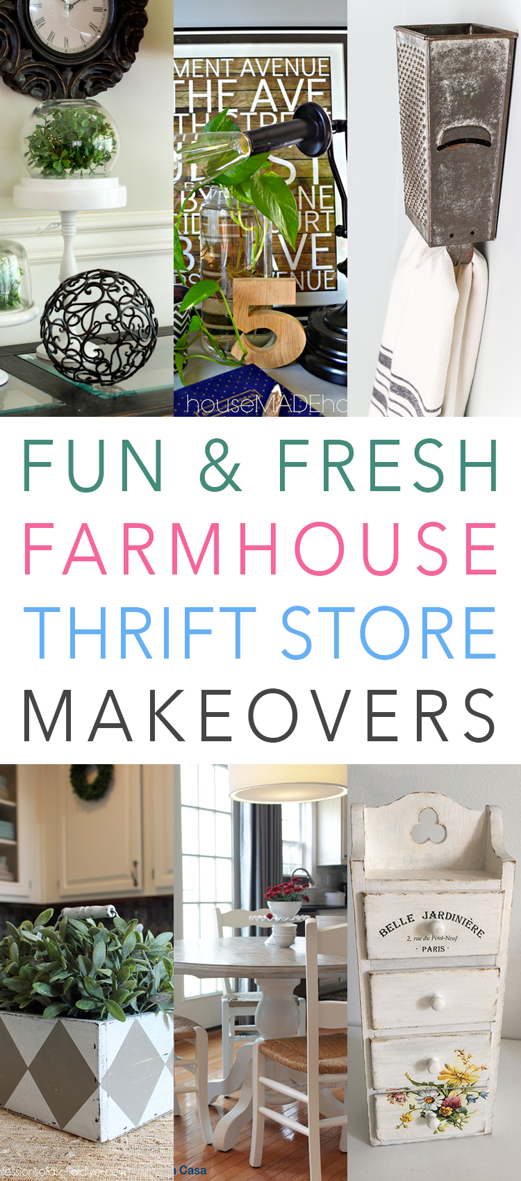 Fun And Fresh Farmhouse Thrift Store Makeovers The