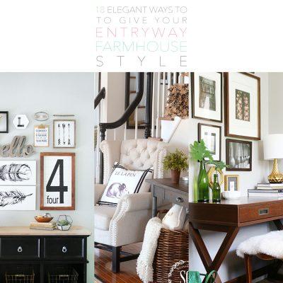 18 Elegant Ways To Give Your Entryway Farmhouse Style