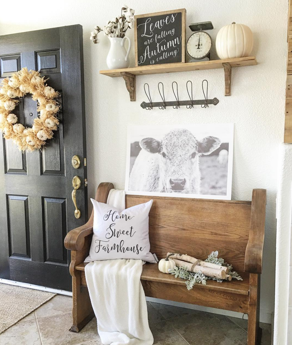 Rustic Hallway Wall Decor : Elegant ways to give your entryway farmhouse style