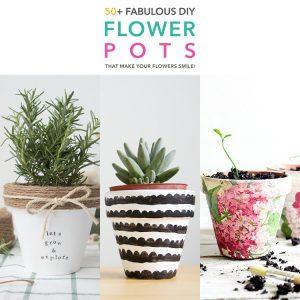 50+ Fabulous DIY Flower Pots That Make Your Flowers Smile