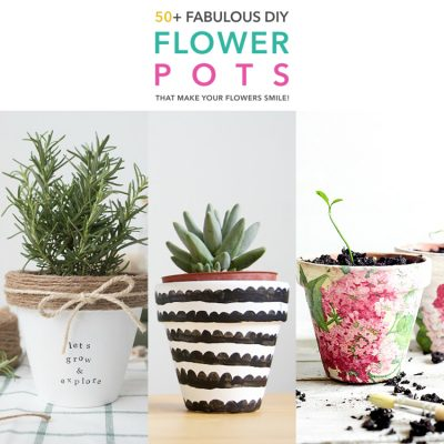 50+ Fabulous DIY Flower Pots That Make Your Flowers Smile