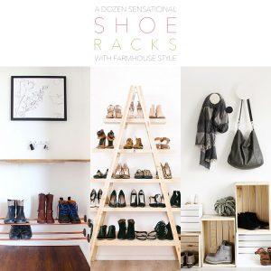 A Dozen Sensational Shoe Racks With Farmhouse Style
