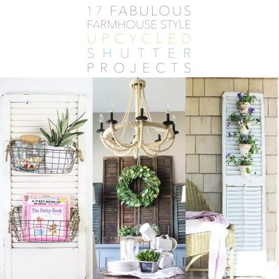 17 Fabulous Farmhouse Style Upcycled Shutter Projects