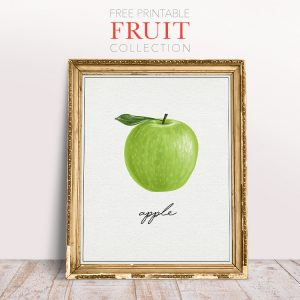 Free Printable Fruit Collection