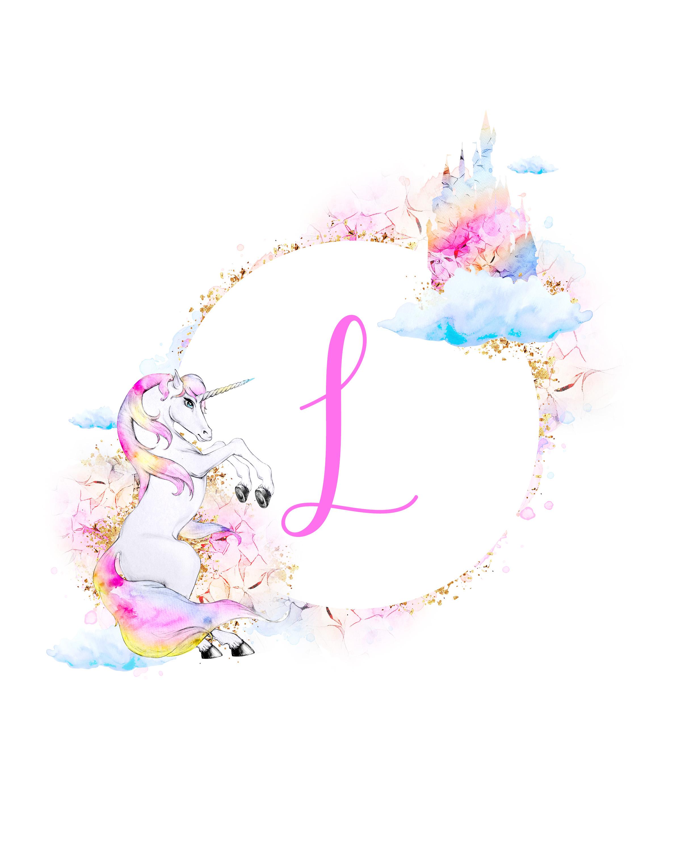 free unicorn printable monograms collection