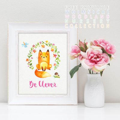 Free Printable Wonderful Woodland Nursery Collection