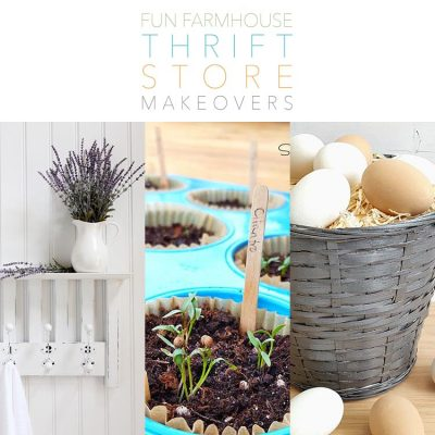 Fun Farmhouse Thrift Store Makeovers