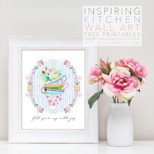 Inspiring Kitchen Wall Art Free Printables