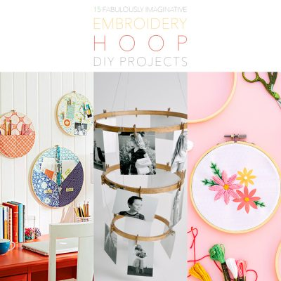15 Fabulously Imaginative Embroidery Hoop DIY Projects