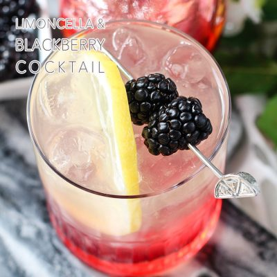 Limoncello + Blackberry Cocktail