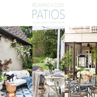Relaxing and Cozy Patios You Will Want To Spend Time In!