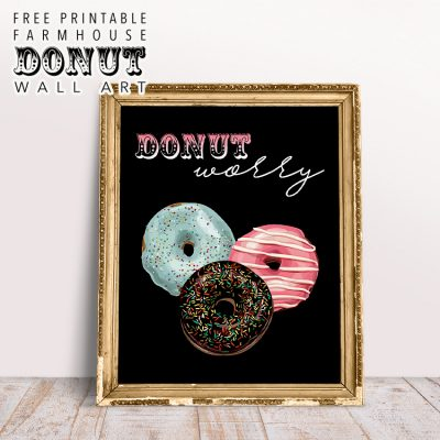 Free Printable Farmhouse Donut Wall Art
