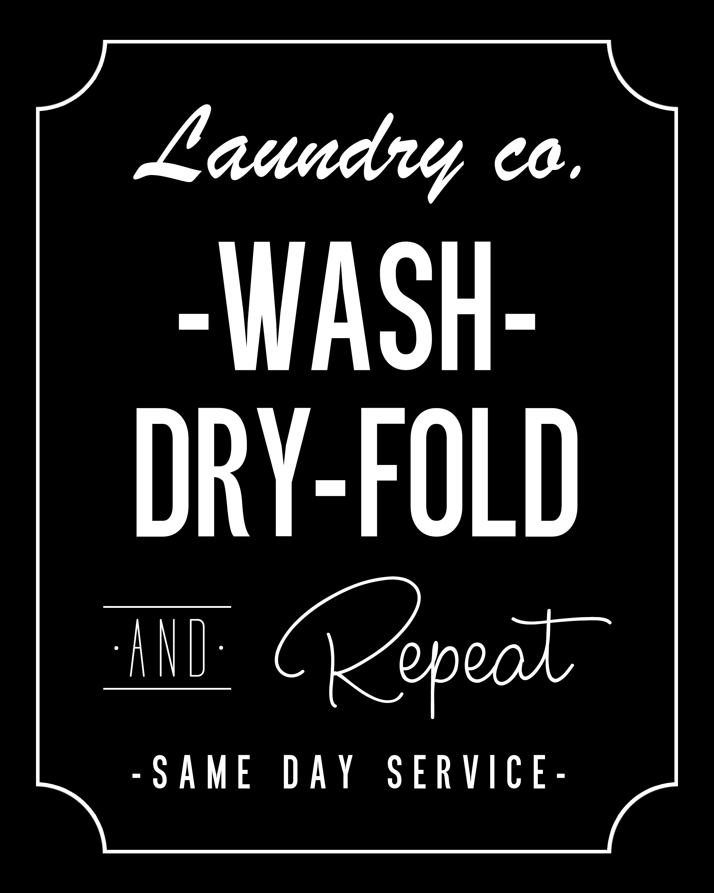 Adaptable image inside free printable laundry room signs