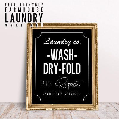 Free Printable Farmhouse Laundry Wall Art