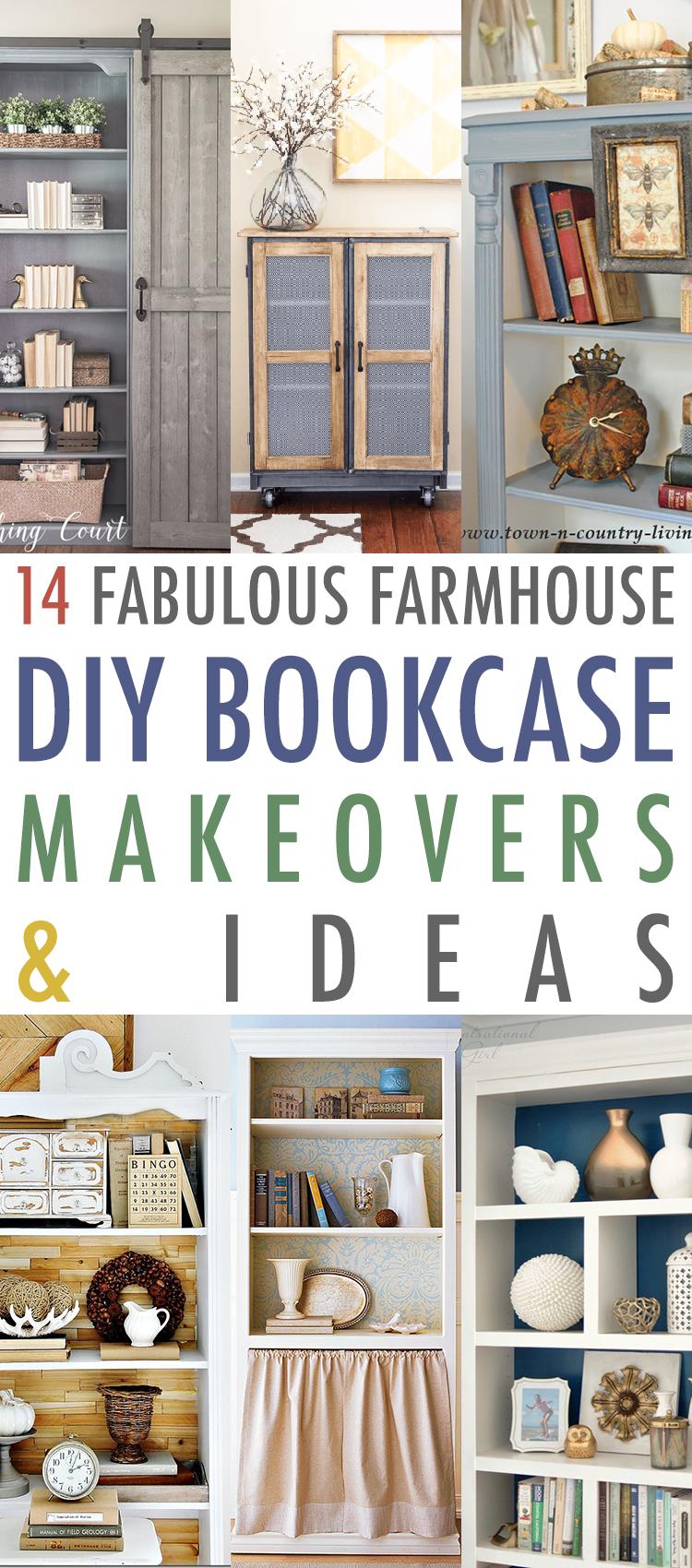 14 Fabulous Farmhouse Diy Bookcase Ideas Makeovers The