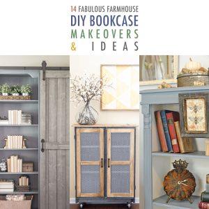 14 Fabulous Farmhouse DIY Bookcase Ideas & Makeovers