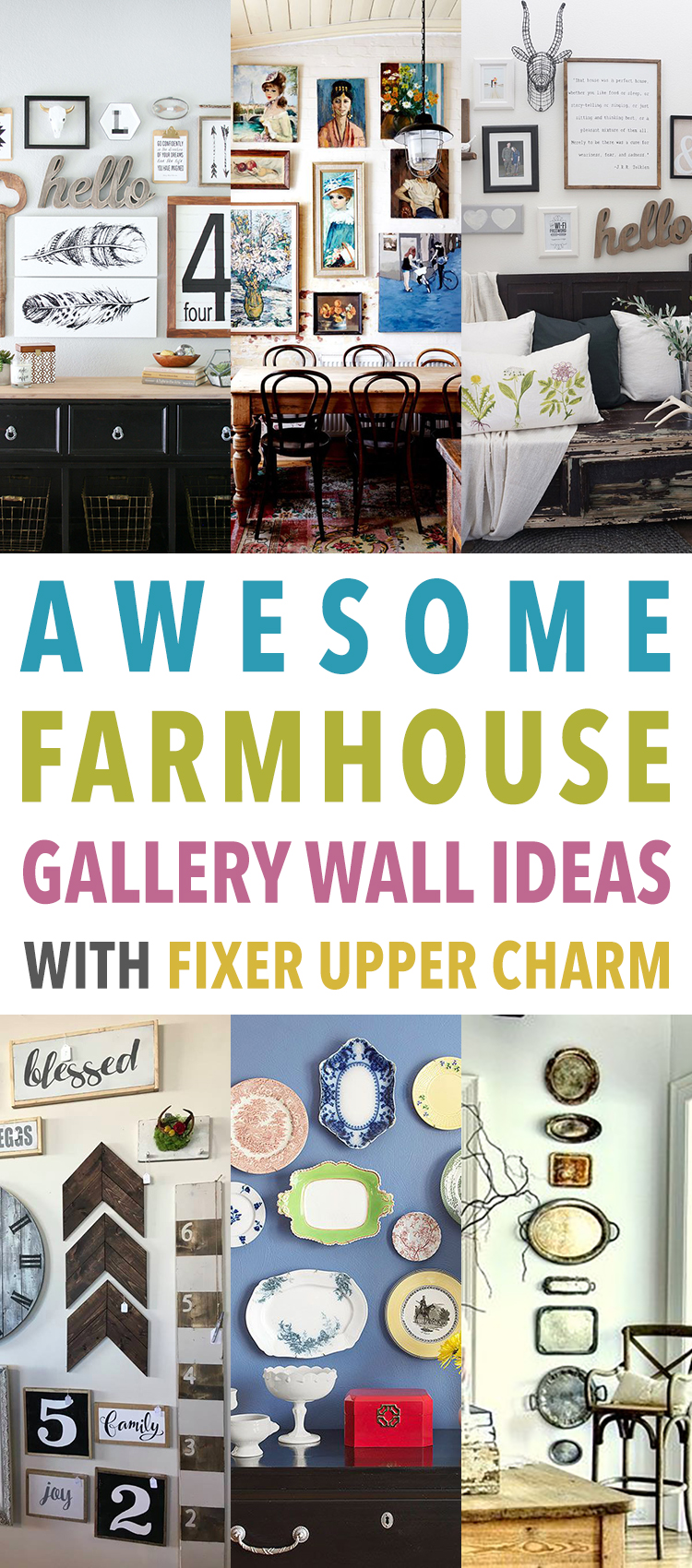 awesome farmhouse gallery wall ideas with fixer upper charm the