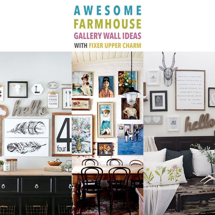 Awesome Farmhouse Gallery Wall Ideas With Fixer Upper