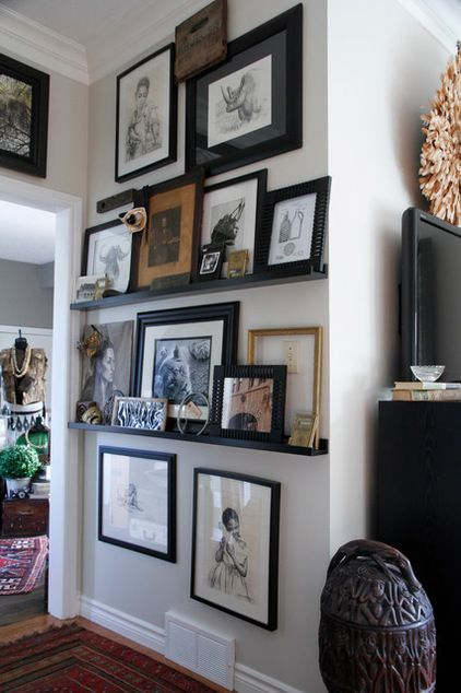 If It Is Done Right Like Here At Home Decort A Flat Screen Can Become A  Part Of Your Gallery Wall! The Easiest Way To Get Things All Lined Up Is To  ...