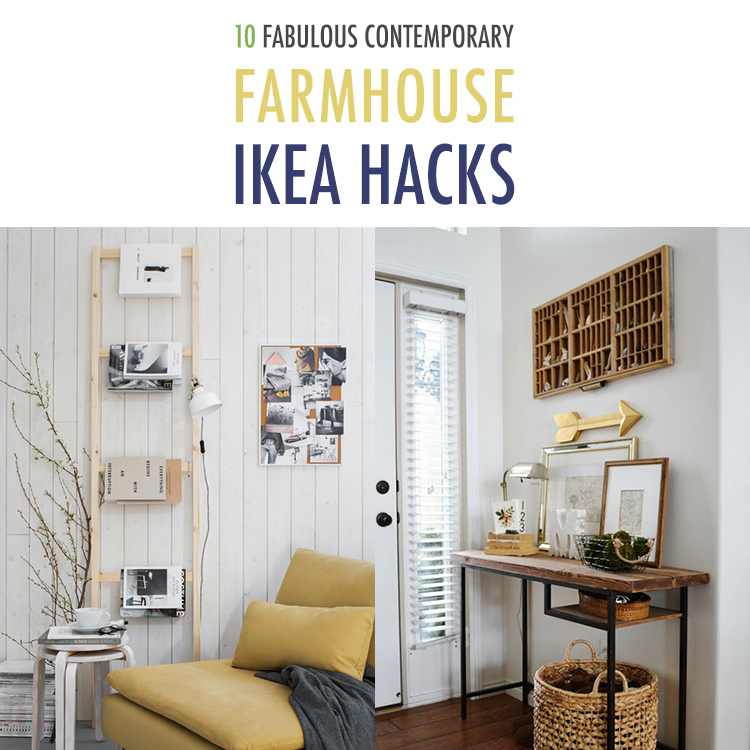 10 fabulous contemporary farmhouse ikea hacks the cottage market. Black Bedroom Furniture Sets. Home Design Ideas