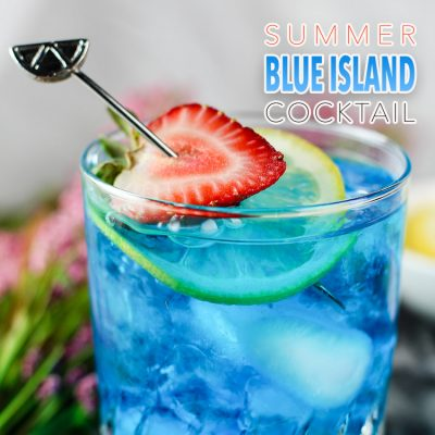 Summer Blue Island Cocktail
