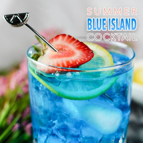 Summer Blue Island Cocktail