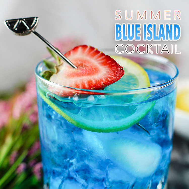 Summer Blue Island Cocktail The Cottage Market
