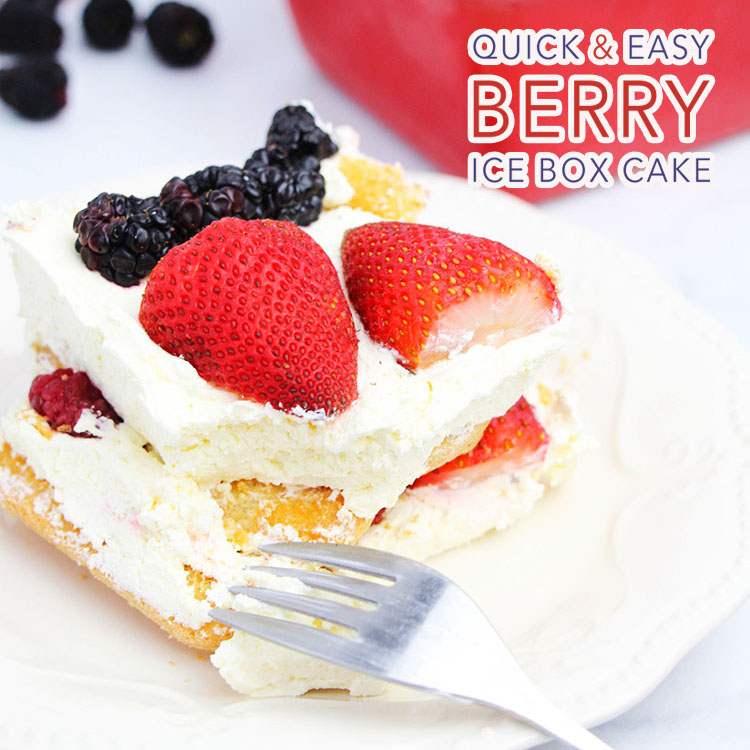 Quick and Easy Berry Ice Box Cake - The Cottage Market