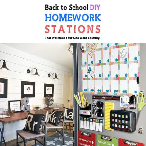 Back To School DIY Homework Stations That Will Make Your Kids Want To Study!