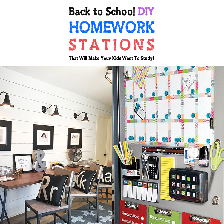 Back To School Diy Homework Stations That Will Make Your Kids Want Study The Cottage Market