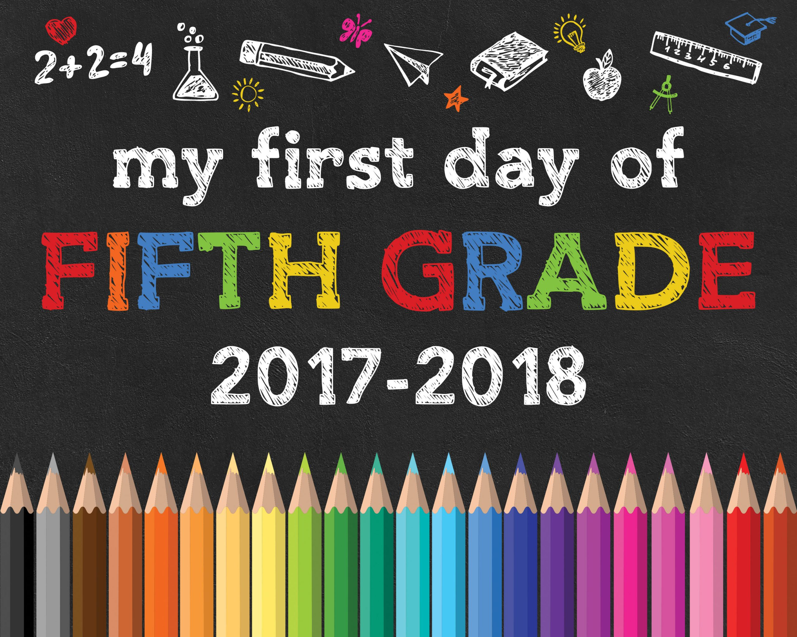 Back to School Free Printable Chalkboard Signs - The ...