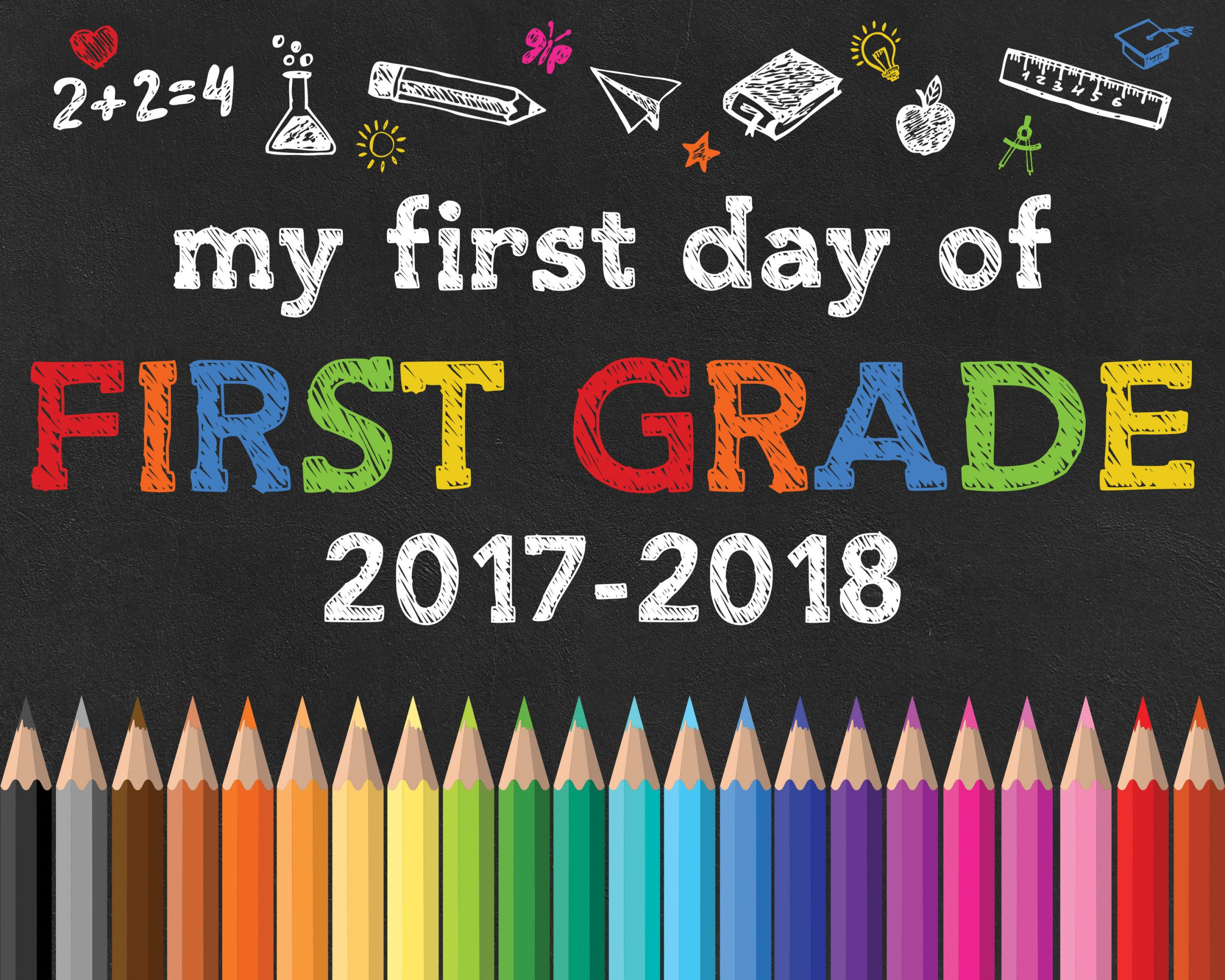 photograph relating to First Day of Second Grade Printable Sign referred to as Again toward College or university Free of charge Printable Chalkboard Symptoms - The Cottage