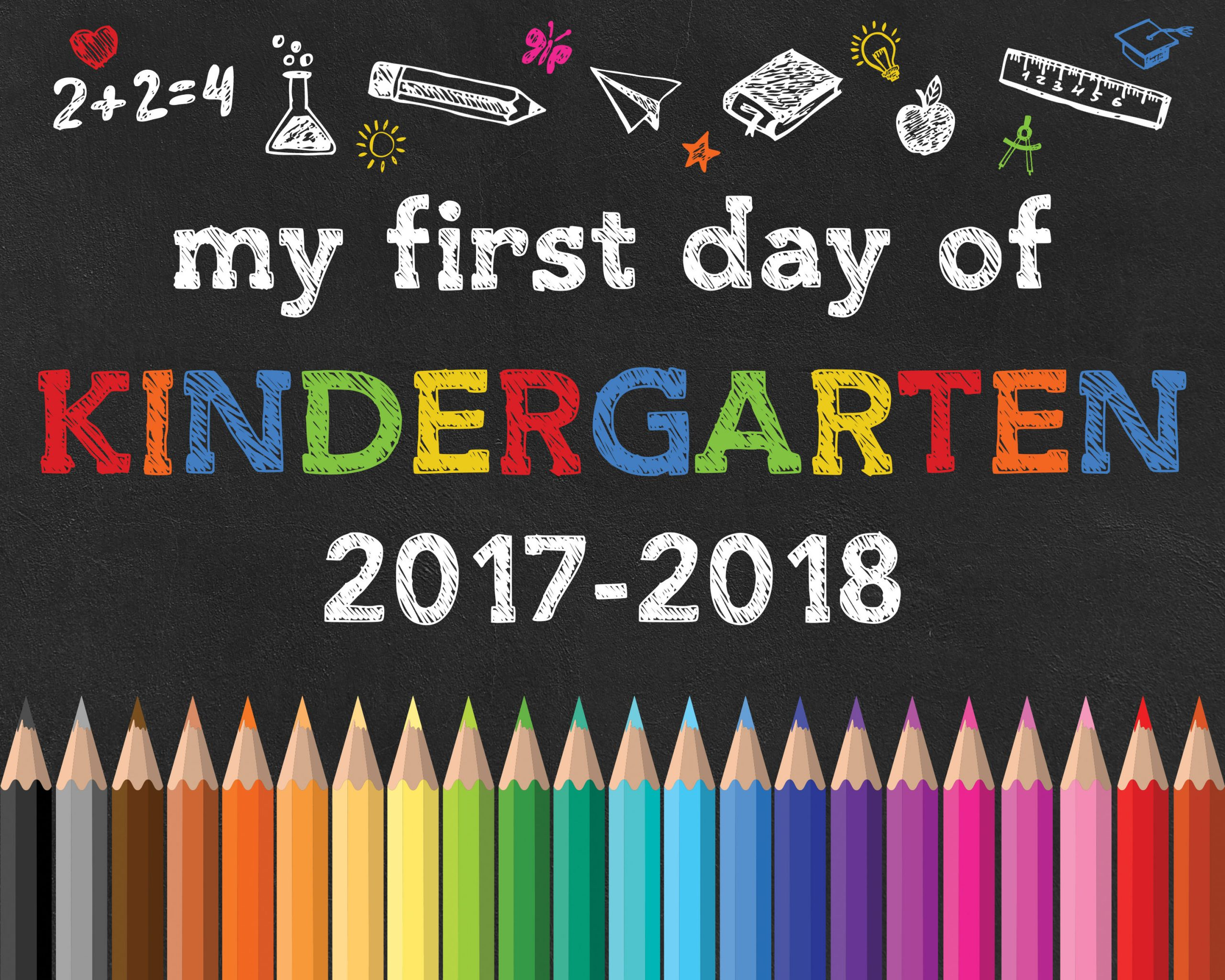 photograph regarding First Day of Preschool Free Printable titled Again toward College No cost Printable Chalkboard Signs and symptoms - The Cottage