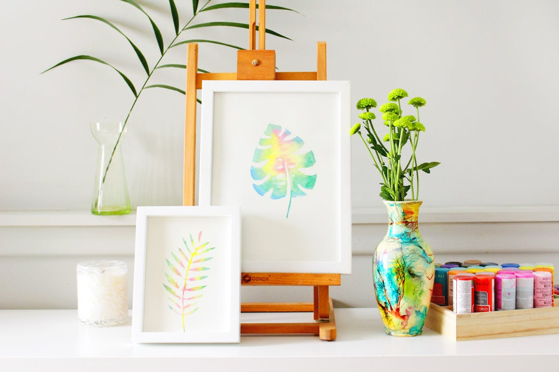 5 Diy Home Decor Craft Ideas For The Summer: 14 Fresh Tropical Leaf DIY Projects For A Touch Of Summer