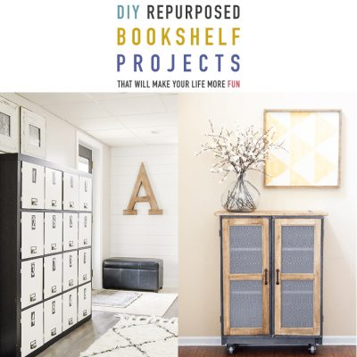 DIY Repurposed Bookshelf Projects // That Will Make Your Life More Fun!