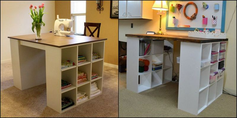 Do You Know What You Can Do With 2 Bookshelves? A Great Craft Tableu2026DIY Is  Waiting For You Over At The Owner Builder Network!