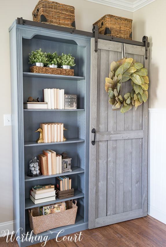 Leave It To Suzy Over At Worthing Court And Watch How A Bookshelf Can Be Transformed Into Hidden Storage E With Major Farmhouse Eal