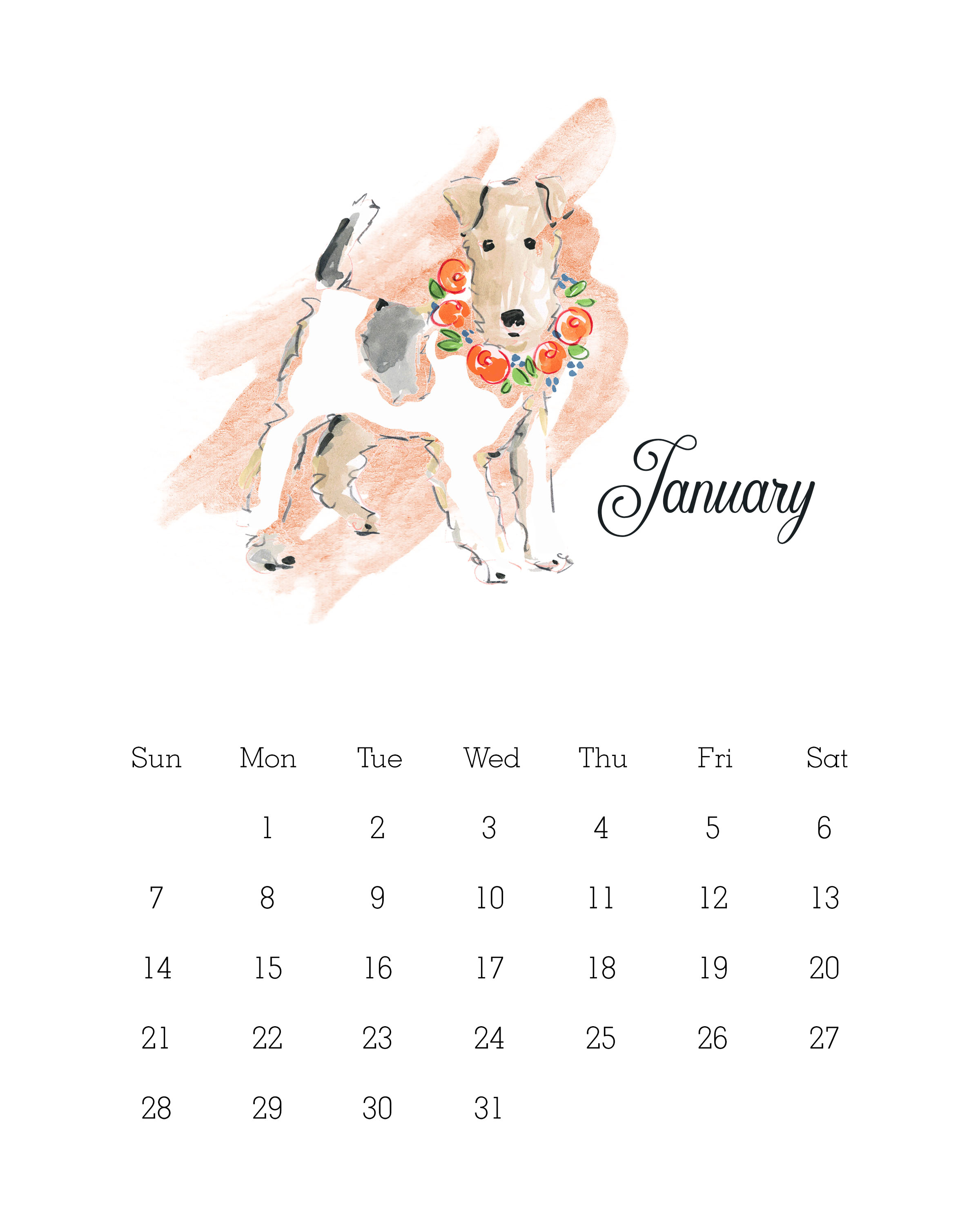 free printable 2018 watercolor dog calendar the cottage November Leaves Clip Art november calendar clip art banner