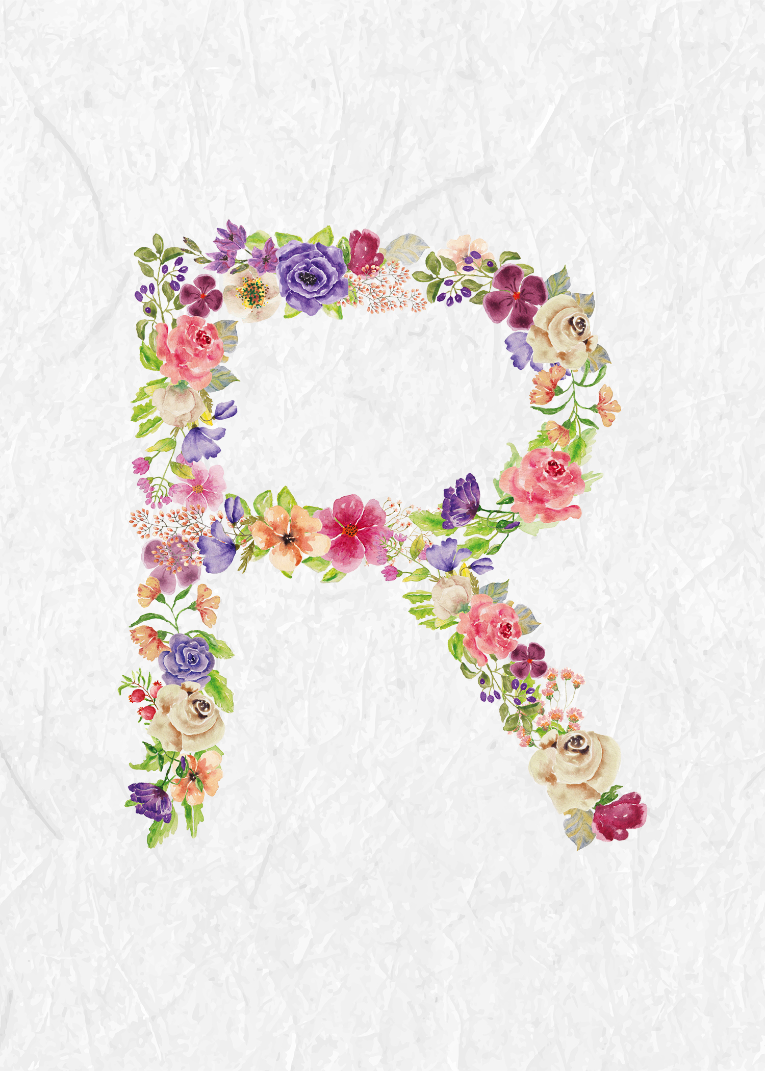 Floral Wreath Wallpaper