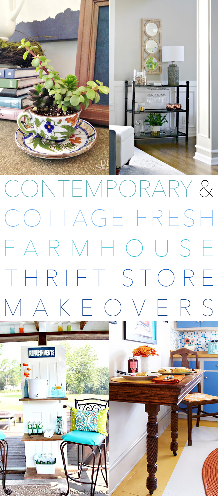 Contemporary and Cottage Fresh Farmhouse Thrift Store Makeovers