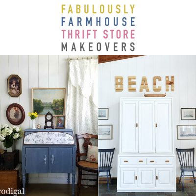 Fabulously Farmhouse Thrift Store Makeover Collection
